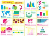 Detail info graphic vector illustration — Stock Vector