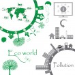 eco world illustration — Stock Vector