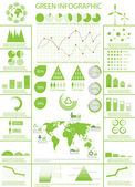 Green ecology, recycling info graphics — Stock Vector