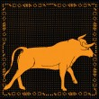 Taurus horoscope sign — Stock vektor