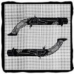 Vintage pistols — Stock Vector
