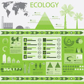Ecology info graphics collection — Stock Vector