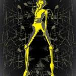 Alien illustration — Stock Vector