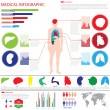 Medical info graphics — Stock Vector