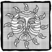 太陽の図 — ストックベクタ