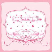 Carta di invito di amore — Vettoriale Stock