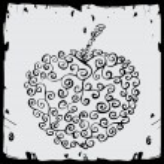 Vintage apple label — Stock Vector