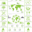 Green ecology, recycling info graphics collection — Stock Vector