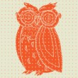 Orange Owl Woodcut — Vetorial Stock #21207387