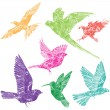 Collection of flying birds - Image vectorielle