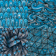 Blue seamless abstract pattern — Imagen vectorial