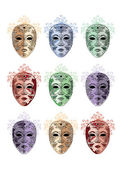 Mask set — Stock Vector