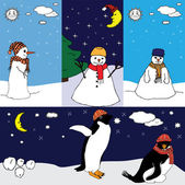 Carte de l'hiver — Vecteur