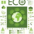 Green ecology info graphics collection — Stock Vector #21358083