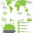 Ecology, recycling info graphics collection - Stok Vektör