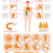 Stock Vector: Medical info graphics
