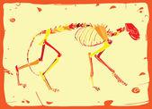 有趣的猫骨架 — 图库矢量图片