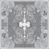 Ornamental paisley floral bandanna — Stock Vector