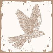 Bird fly brown — Stock Vector