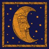 Moon illustration — Stock Vector
