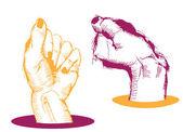 Pair of hands — Stock Vector