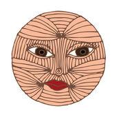 Sun face — Stock Vector