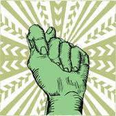 Opstand vuist-pop-art — Stockvector