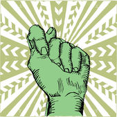 Rebelión de puño-pop-art — Vector de stock