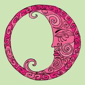 Pink moon — Stock Vector