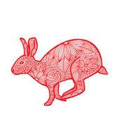Rabbit- Chinese zodiac — Stock Vector