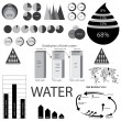 Water info graphic elements — Image vectorielle
