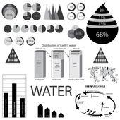 Water info grafische elementen — Stockvector