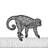 Illustration de singe — Vecteur