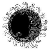 Oriental Moon illustration — Stock Vector