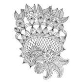Neckline embroidery design — Stock Vector