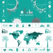 Eco info graphic — Stock Vector