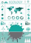 Eco info graphic — Stock Vector