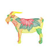 Goat illustration — Stock Vector