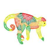 Monkey illustration — Stock Vector