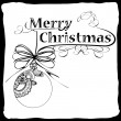 Merry Christmas card — Vettoriali Stock