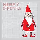 Merry Christmas Santa card — Stock Vector