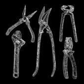 Illustrazione dello strumento mano — Vettoriale Stock