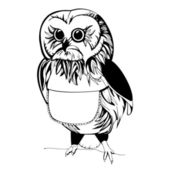 Owl illustration — Stock Vector