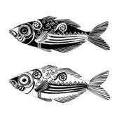 иллюстрация рыбы — Cтоковый вектор