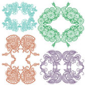 Embroidery design — Stock Vector
