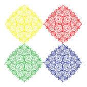 Stickerei quadrat design — Stockvektor