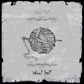 Boll of wool — Stock Vector