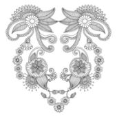 Neckline embroidery pattern — Stock Vector