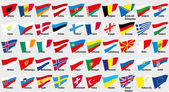 Flags of European countries — Stock Vector