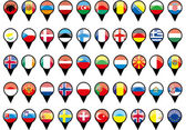 Flags of European countries like pins — Stock Vector